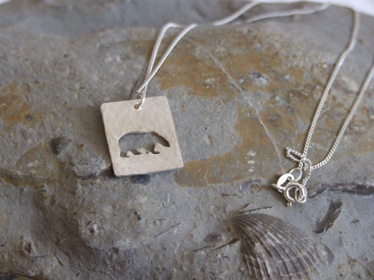 Polar bear pendant a textured sterling silver pendant showing a polar bear pendant a textured sterling silver pendant showing a silhouette of a polar bear aloadofball Images